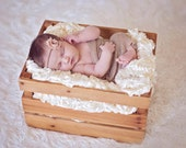 Latte Brown Shabby Chic Chiffon Flower Headband, Newborn Toddler Baby Girl Prop, Girls Photography Props