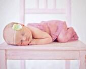 Light Green Baby Girl Headband, Newborn Photo Prop, Newborns Photography Props