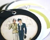 Journal Necklace : Miniature Sketchbook Necklace / Fashion Sketchbook Necklace // Slave to Fashion Necklace