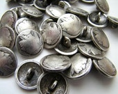 Two Indian head  replica nickel buttons - 3/4 inch or 5/8 inch