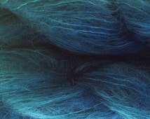 Mohair Yarn in Pine Green Fingering Weight