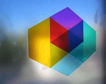 72 mini HEX6AGON Window Decals - multi colored - DIY