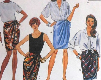 Sarong Skirt Sewing Pattern UNCUT McCalls 6526 Womens Sizes 8-12