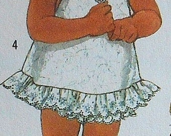 Toddler Sundress Sewing Pattern Simplicity 7412 UNCUT Sizes 6m-1y