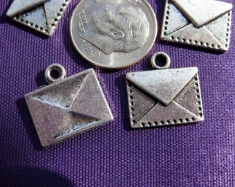 Mail Envelope Charm Tibetan Silver Jewelry Supply 5 pieces
