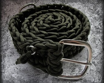 XXL or larger 550 Paracord Survival Belt - from belt to rope in seconds