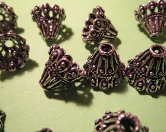 Oxidized Sterling Silver Cone - 2 pieces