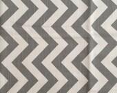 Fabric Yardage - Grey and White Chevron
