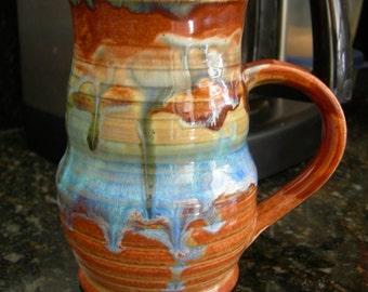 Blue Surf Sunset - Tea Mug - Hot Chocolate Cup