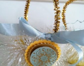 vintage inspired yellow & blue Easter candy/nut cups