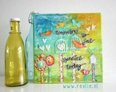 Online Class: how to create a lovely mixed media canvas - REV it up- in English & Dutch