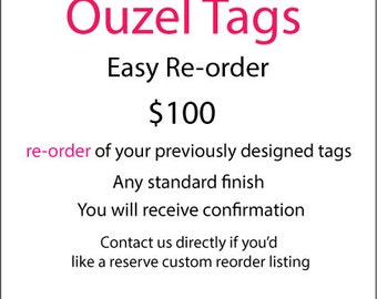 Re order for 100 dollars. Either a deposit towards the final agreed order or the final purchase amount.