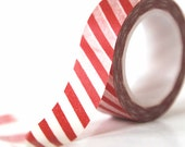 Stripe Red Washi Tape Christmas Holiday Red