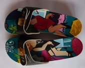Fun, Whimsical Hand painted Dr. Scholl's Original Exercise Sandals