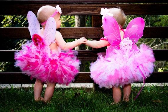 Baby Girls Birthday Tutu Dress Outfit, Pink Sugar Birthday Tutu Fairy Dress