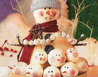 Primitive Pattern E Pattern digital download Snowballs Snowman