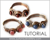 Wire Ring Tutorial, Wire Jewelry Pattern, Beading Ring Tutorial, Wire Wrapping Tutorial, Wirewrapped Ring, Wire Jewelry Tutorial, pdf