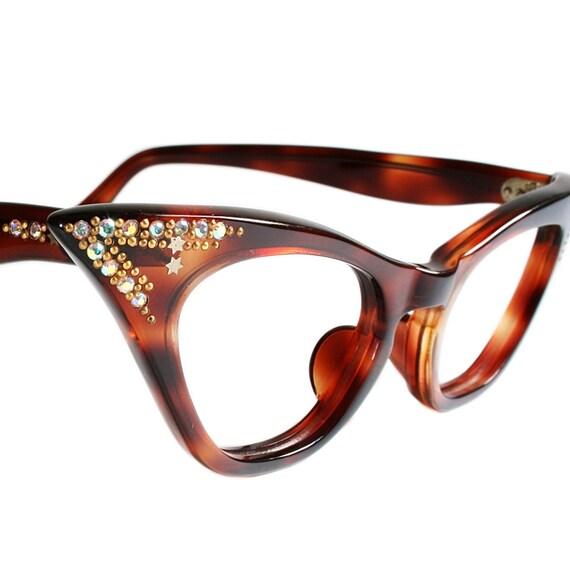 items similar to vintage tortoiseshell cat eye glasses by