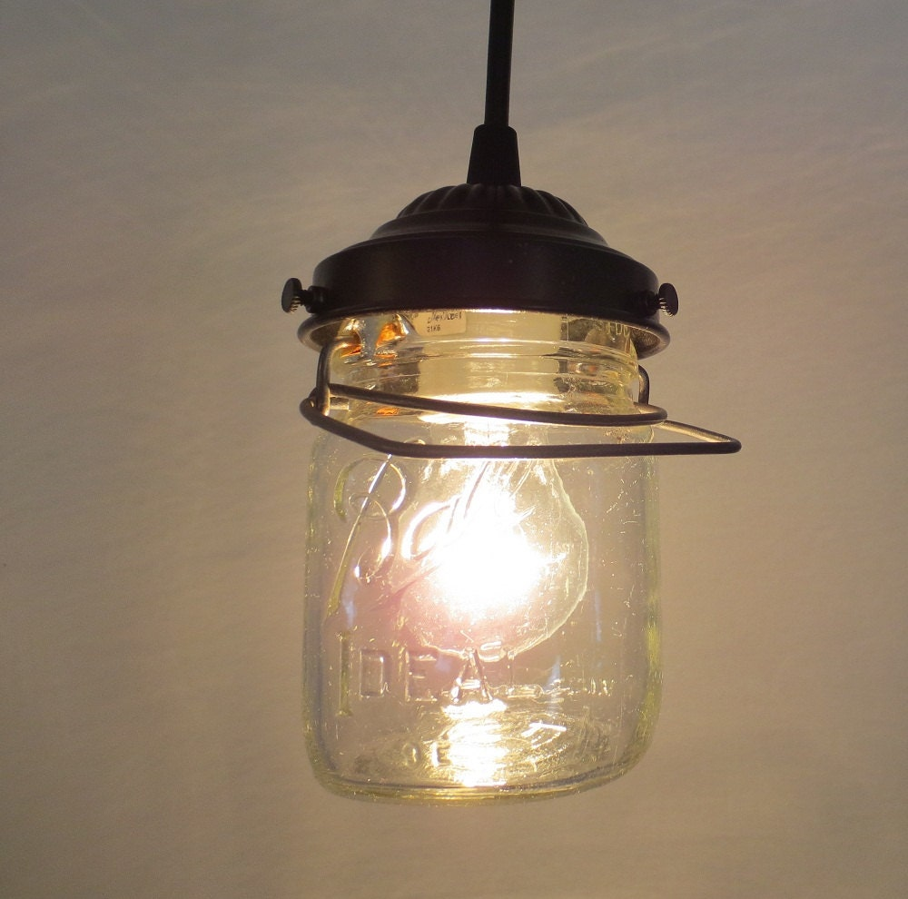 vintage pint canning jar pendant light by lgoods on etsy