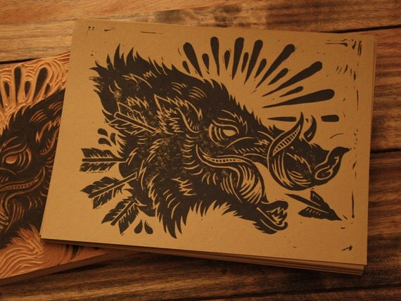 Bush Hog - Alternative Block Print