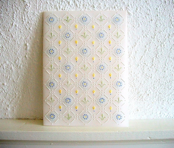 Embossed Wedding Card Handmade One of a Kind Hand Painted Heirloom Quality