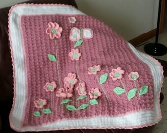 Flower Bed Blanket and Diaper Bag