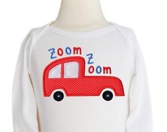 Zoom Zoom Car Applique 3