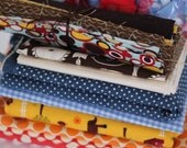 Bold Colors fabric bundle - over 4 yards plus large scraps and trims