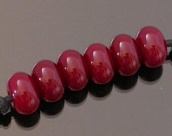 Artisan lampwork beads, red lampwork spacer beads, accent beads, glass lampwork beads, lampwork glass beads, tiny lampwork beads, bead set