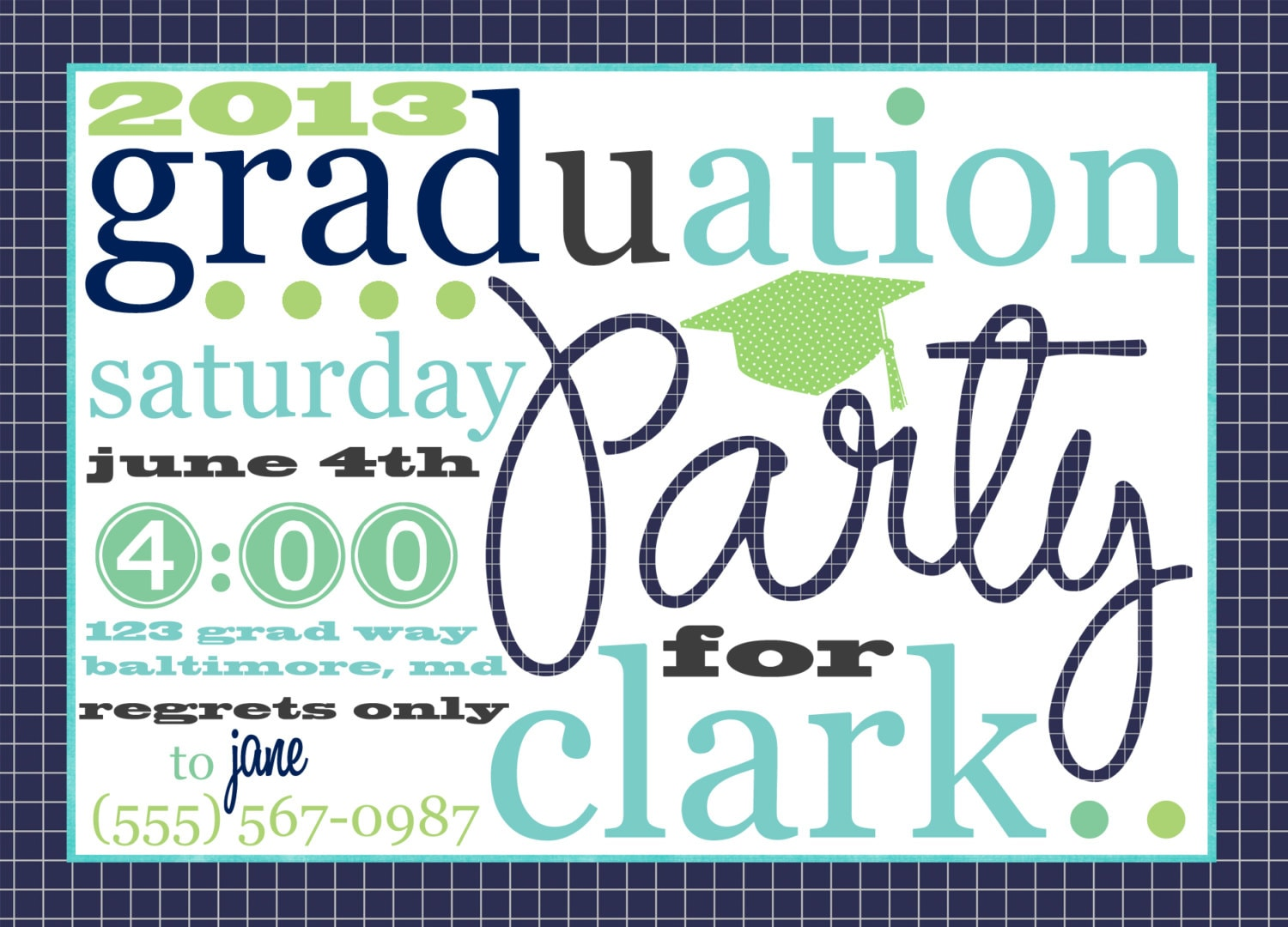 Grad Party Invites Templates as awesome invitations ideas