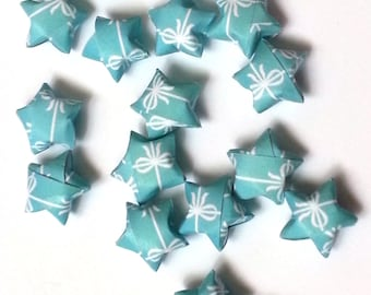 Origami Lucky Stars - Gift in Turquoise   or Sweet Pink (custom orders available)