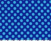 Michael Miller Ta Dot Polka Dots Fabric .5 inch Cobalt Aqua Blue On Royal