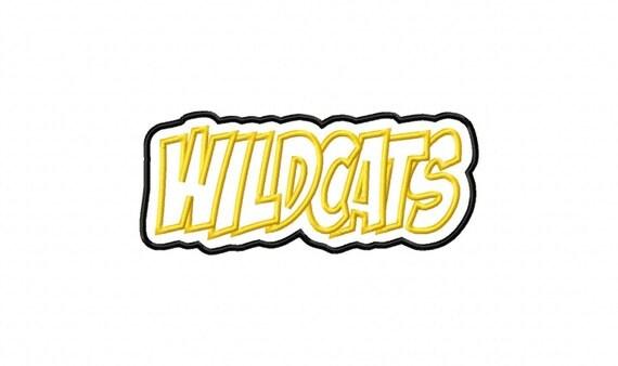 Wildcats Embroidery Machine Double Applique Design 2216