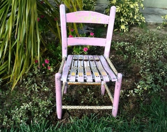 Giraffe, Child's/toddlers rocking chair, personalized, hand painted furniture childrens, childs, distressed, monogrammed
