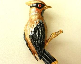 Original 1950s brooch  - a fantastic Figural vintage  Bird Brooch, exquisite enamel shade--Art.540/2 -