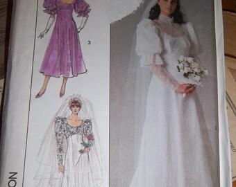 Vintage - Brides Dress - Bridesmaids Dress - Simplicity 8426 - Empire Waist - Size 14 - Bust 36 - Uncut Pattern