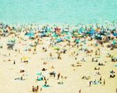 Large Beach Photography, Large Wall Art, Aerial beach Photography, Coney Island Beach Landscape, Large beach Prints, Beach People