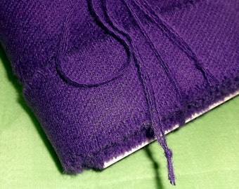 Hand Torn Vintage Purple Wool Ribbon • 1 inch X 10 yards