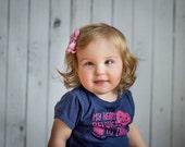 Sweet Pink Shabby Rosette Mini Bow