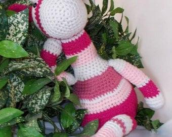 Geri the Giraffe Crochet Amigurumi doll toy shelf sitter FREE US Shipping