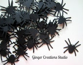 RESERVED for Teacher71: 100 black paper spiders