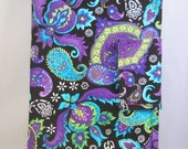 iPad Mini Case Kindle Fire Case Purple Blue and Green Paisley Design with Option to Personalize Kindle Fire HD 7 Soft Padded Cases and Cover
