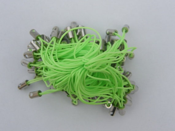 20 Cell phone straps or cords 50mm neon green
