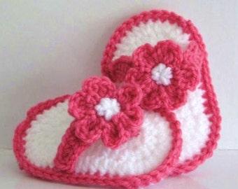 CROCHET Pattern Baby Sandals Flip Flops Thong Sandals PDF - 10 cm foot length 0- 6 months