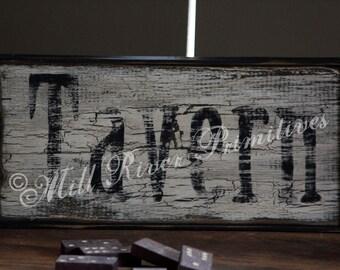 Primitive TAVERN Aged Wood Sign