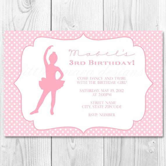 carte invitation anniversaire ballerine