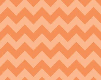 Medium Chevron Tone on Tone Orange by Riley Blake Designs 1/2 yd total