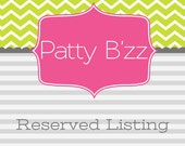 Reserved Listing for Melissa Mezger