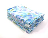 SWEET LOW PRICE Bright Blue Vintage Sheet Fat Quarter Material Fabric