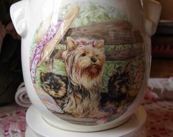 Yorkie Mom & Puppies  Electric Tart Warmer